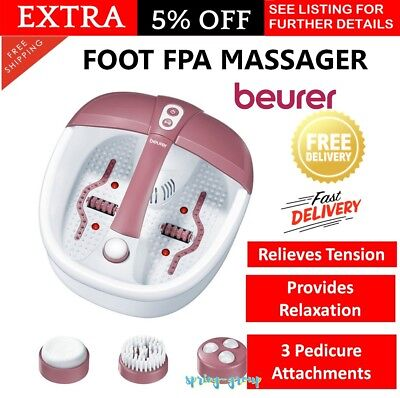 Relaxing Food Spa Massager with 3 Pedicure Attachments Aromatherapy Magnets NEW