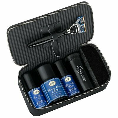 The Art of Shaving Travel Kit Lavender Essential Oil 5pc Set With Leather Case