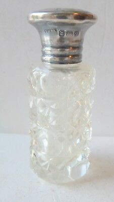 ANTIQUE SILVER MOUNTED SMALL SCENT BOTTLE BY Wm.VALE HALLMARKED 1915
