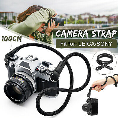 Rope Cord Leather Camera Neck Strap 100cm (singing rock Static Rope) universal