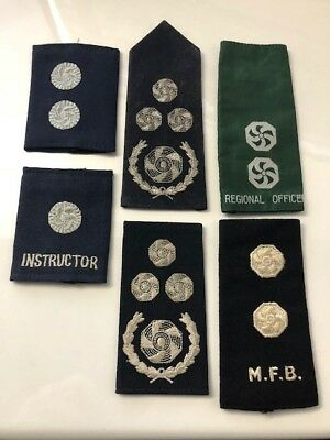 Fire Brigade Collectables - Miscellaneous Fire Service Epaulettes x 6