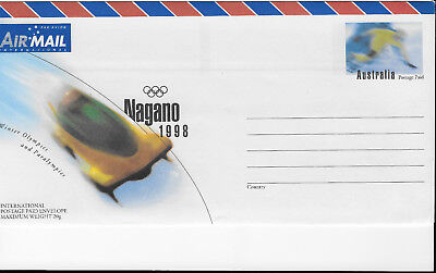 Nagano Winter Olympics 1998 Australia Postage Paid stationery airmail Mint