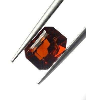 VVS Eye Clean 1.38 Ct Natural Brown Color Hessonite Garnet Loose Octagon Gem AA+