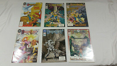 Dragonlance comic lot issues #25 - #30 DC Dungeons & Dragons