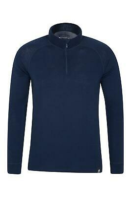 Mountain Warehouse Mens Half Zip with Naturally Antibacterial and High Wicking
