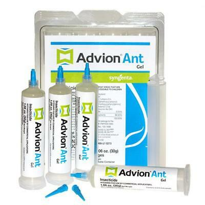 ADVION ANT Killer Gel Bait 4 Tubes with Plunger and Tips - KILLS ANTS FAST!!