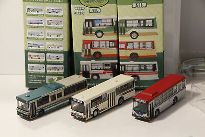 Tomix Bus Collection Brown 1/150 N scale Japan Scale Plastic Model 3x #11 Lot N1