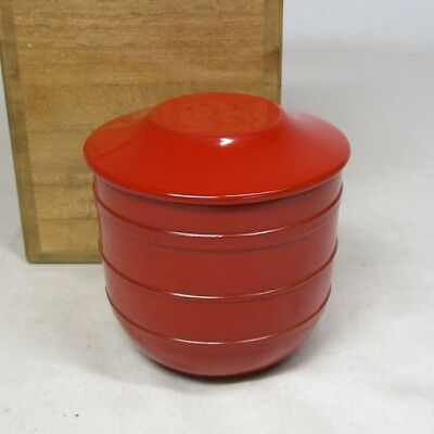 C620: Japanese lacquerware tea caddy NATSUME with box
