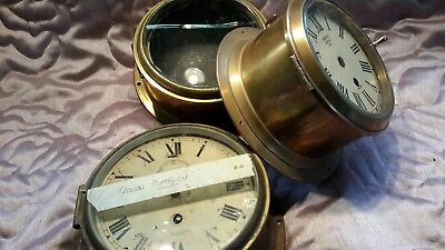 3 Ships brass Cases...for Spares or repair