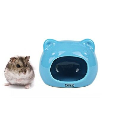 Hyihe Ceramic Hamster Bedding Hideout Nest, Chinchilla Cage Accessories, Hamster