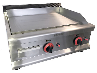 Commercial Kitchen Gas Flat Plate Table Top Griddle Heavy Duty 65cm Burger Steak