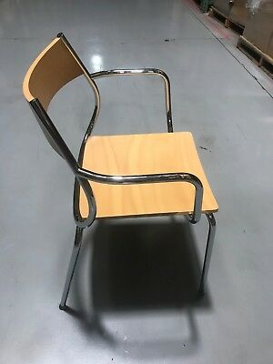 Wood and Metal Arm Chair for Restaurant/Bar/Cafe/Home, Industrial