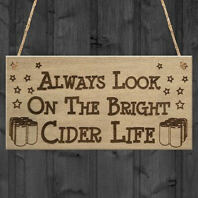 Red Ocean Bright Cider Life Funny Alcohol Man Cave Pub Gift Hanging Plaque Home