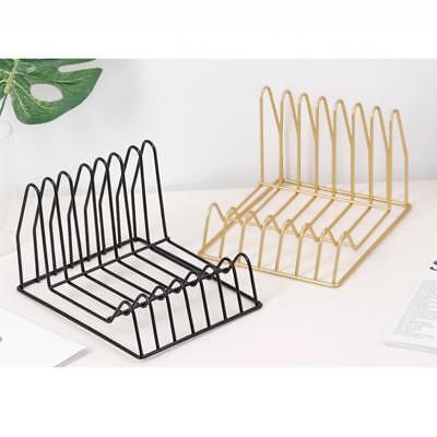 Metal Desk Organizer Desktop Office Home Book Storage Holder Bookshelf Racks