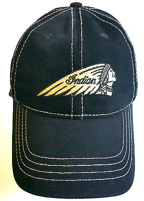 Indian Motorcycle Baseball Cap, Black, Officially Licensed, One Size Hat