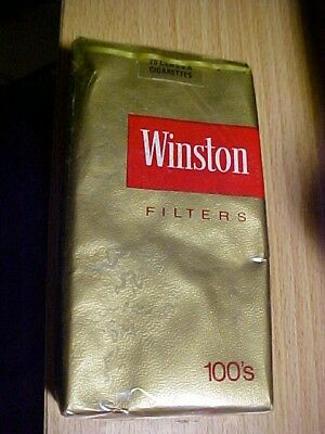 Unopened Sealed WINSTON gold 100s Collectible Cigarette Soft Pack complimentary