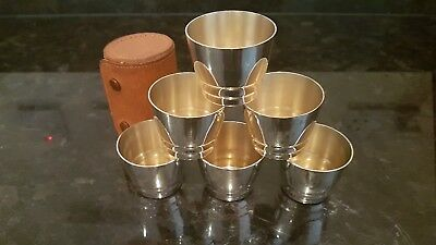 PHV&Co. Silver Stirrup Cups with Case