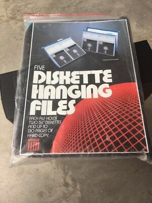 Five Acco Diskette Hanging Files New Sealed Vintage 1983