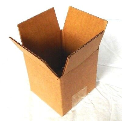 """100 Pack of 4 x 4 x 4"""" Corrugated Shipping Boxes - Packing Moving"""