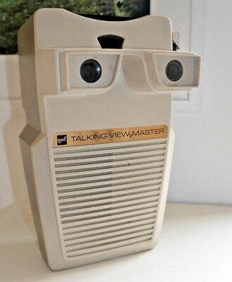 VINTAGE GAF TALKING VIEWMASTER STEREO VIEWER 1970's RARE UNTESTED   B409