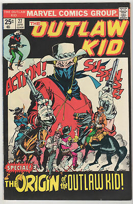 The Outlaw Kid #27 VG/FN LOT (6 copies) Western Marvel 1975 ORIGIN Dick Ayers