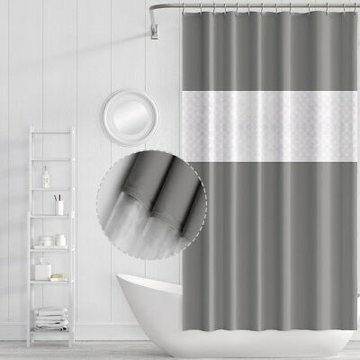 Sanitary Waterproof Mildew Resistant Shower Curtain with Hooks, Mold Resistant,