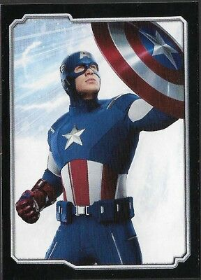 MARVEL - THE AVENGERS - STICKER COLLECTION - No 25 - CAPTAIN AMERICA - By PANINI