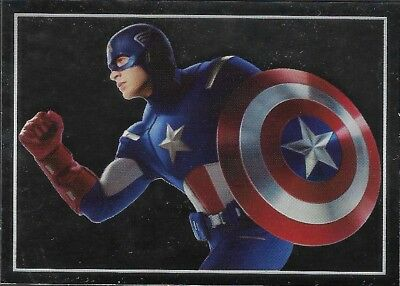 MARVEL - THE AVENGERS - STICKER COLLECTION - No 27 - CAPTAIN AMERICA - By PANINI
