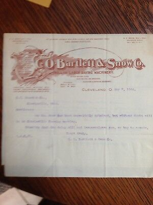 1904 C O Bartlett & Co Cleveland Oh Letter Head