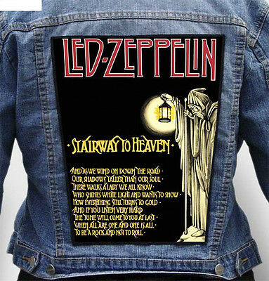 Led Zeppelin - Giant Indestructible Photo Quality Backpatch Back Patch