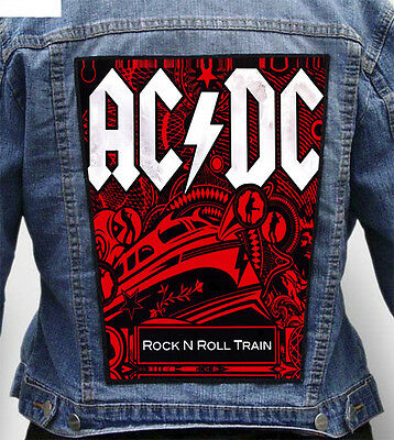 AC DC - RNR Train - Giant Indestructible Photo Quality Backpatch Back Patch