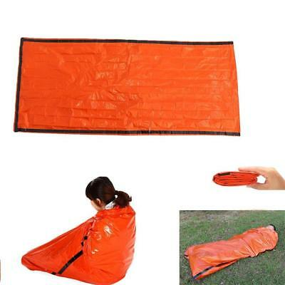 Orange Outdoor Emergency Sleeping Bag Thermal Blanket Camping Survival Gear
