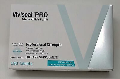 VIVISCAL PROFESSIONAL  PRO: Hair Growth Supplement 180 tablets EXP: 04/2021