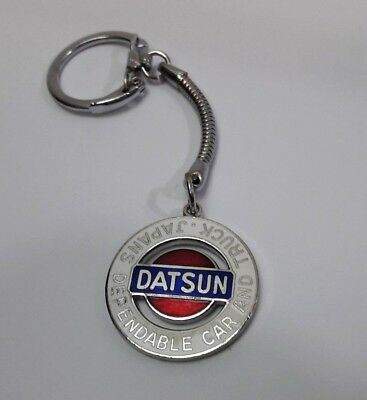 Vintage-Datsun-Nissan-Key-Chain-Ring-Fob-Keyring-Official /made In Japan