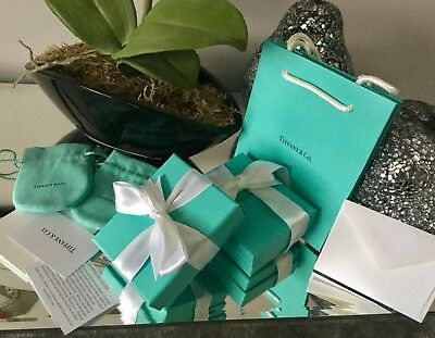 Original TIFFANY & CO.*EMPTY GIFT BOXES, POUCHES, GIFT BAG*AUTHENTIC* New