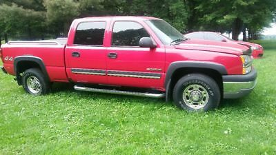 2003 Chevrolet Other Pickups Chrome 2003 SILVERADO LS 1500HD V8 VORTEC 6.0 VICTORY RED HIGH MILES RUNS GREAT 2 OWNER