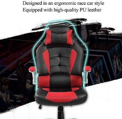 Ergonomic High Back Racing Style Luxury Reclining Gaming And Office Chair Red