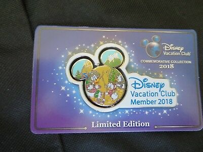 Disney Vacation Club DVC 2018 DONALD Spinner LE Pin Commemorative Collection NEW