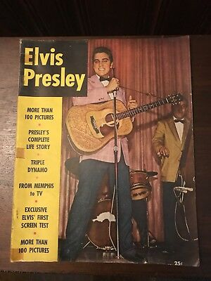 Elvis Presley,  A Vintage Photo Tribute Magazine, 1956 His Complete Life Story