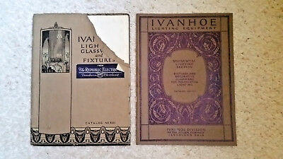 (2) Vintage Ivanhoe Lighting Fixtures Catalogs & Price List  circa1927 501, 750