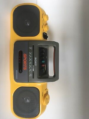 Sony Sports Mega Bass Radio Tape Cassette Recorder Player Boombox Model CFS-904