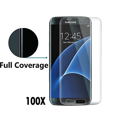 100 Curved Full Cover Tempered Glass Screen Protector for Samsung Galaxy S7 Edge