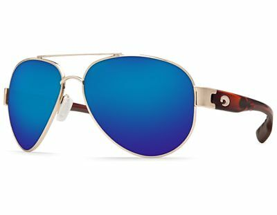 NEW Costa Del Mar South Point Rose Gold / Blue Mirror SO84 OBMGLP580G Sunglasses