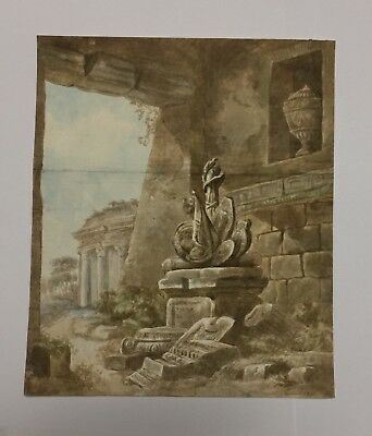 MERVEILLEUX DESSIN ANCIEN ITALIEN 17-18eme SIECLE, OLD MASTER DRAWING, MUSEUM Q
