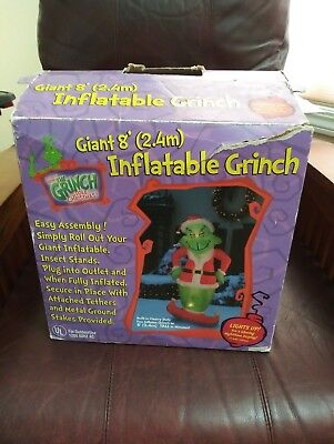 Gemmy Airblown Christmas Inflatable 8 ft Grinch with Box
