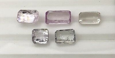 32.9 Ct Natural Kunzite Faceted Gemstone Untreated Lot Afghanistan