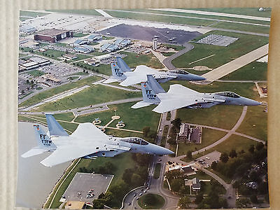 ORIGINAL USAF PHOTO - Flight of 3 USAF F-15s - 1st Tacticall Fighter Wing