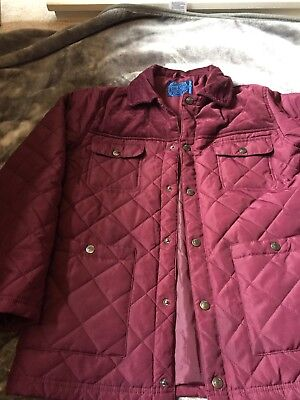 Boy Burgundy Blue zoo Lightweight Jacket Age 13/14 Years Old