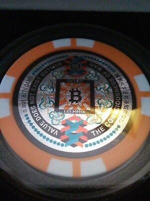 Japanese Satori Coin  VERY RARE Bitcoin Poker Chip / 0.001 BTC