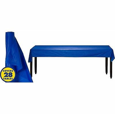 250ft Plastic Banquet Roll Royal Blue Party Wedding Catering Table Cover BBQ